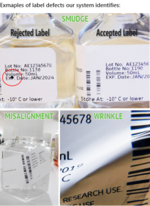 types of defect for label inspection