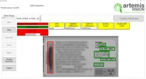 failed barcode on label - vision inspection